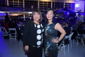 Event co-chairs Lei Lei Ekvall and Mei Tsang at the event.
