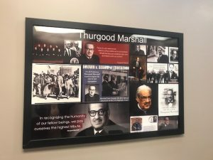 Framed Display Thurgood Marshall