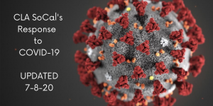 COVID-19 Update graphic with photo of virus