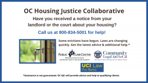 OC Housing Justice Collaborative flyer